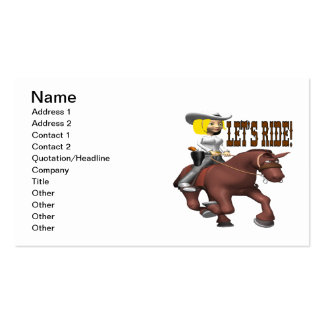 Lets Ride 5 Business Card Template