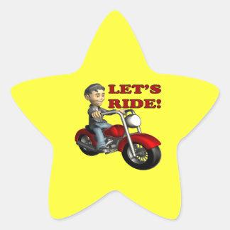 Lets Ride 5 Star Sticker