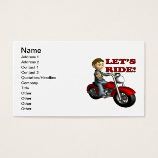 Lets Ride 6 Business Card