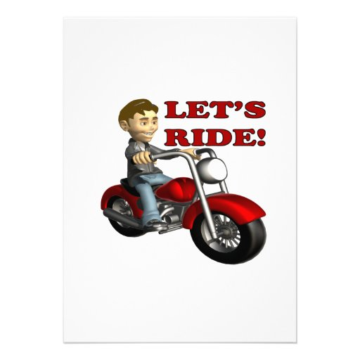 Lets Ride 6 Custom Invites