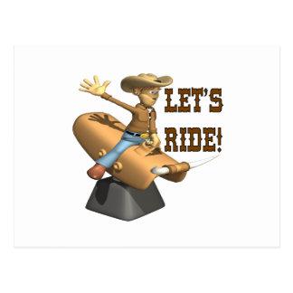 Lets Ride 6 Postcard
