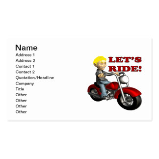 Lets Ride 7 Business Card Templates