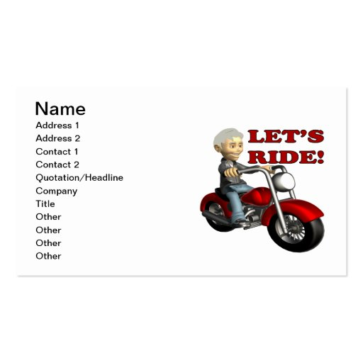 Lets Ride 8 Business Cards