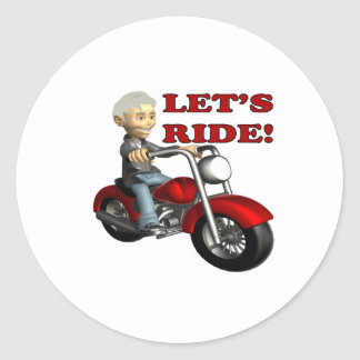 Lets Ride 8 Classic Round Sticker