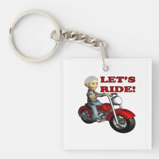 Lets Ride 8 Square Acrylic Key Chains
