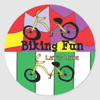 Let's Ride Bicycle Stickers