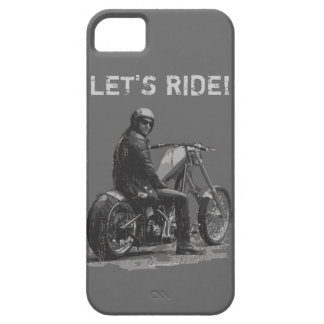 LET'S RIDE! Chopper Motorcycle Rider iPhone 5 Case