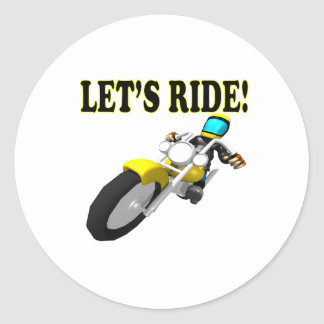Lets Ride Classic Round Sticker