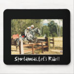 lets ride crosscountry mouse pad