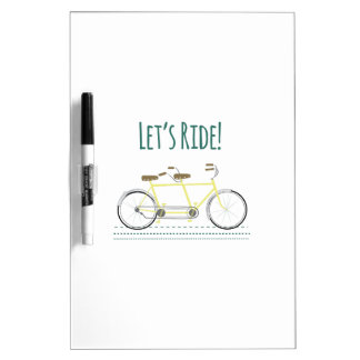 Lets Ride Dry-Erase Whiteboard