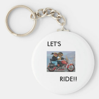 LET'S RIDE KEY CHAIN
