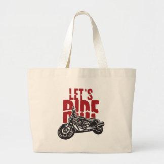 Lets Ride Motorcycle Design Canvas Bag