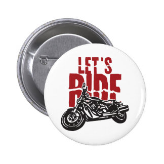 Lets Ride Motorcycle Design Pin