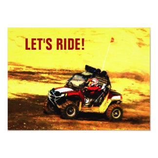 Let's Ride! Mudding ATV Event 4.5x6.25 Paper Invitation Card