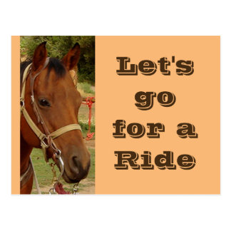 Let's Ride Postcard