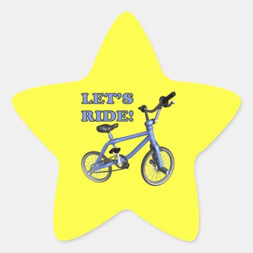 Lets Ride Star Sticker