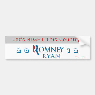 Let's RIGHT This Country (grey) Bumper Sticker