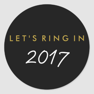 """Let's Ring In"" New Year's Eve Favor Sticker"