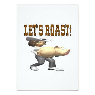 Lets Roast 5x7 Paper Invitation Card