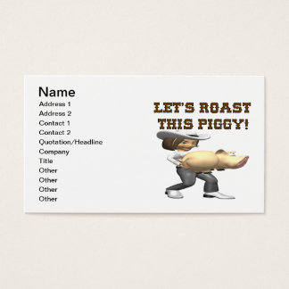 Lets Roast This Pig Business Card