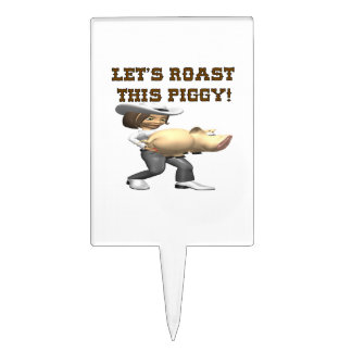 Lets Roast This Pig Cake Topper