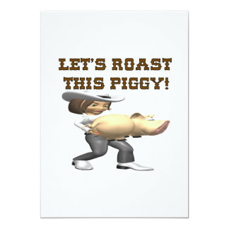 Lets Roast This Pig 5x7 Paper Invitation Card