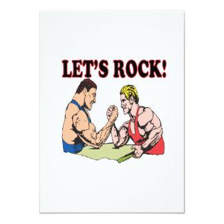 Lets Rock 5x7 Paper Invitation Card