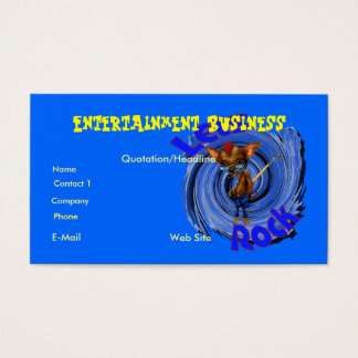 Lets Rock business card customizable