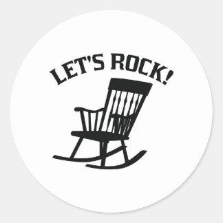 Letu0026#39;s Rock! Classic Round Sticker