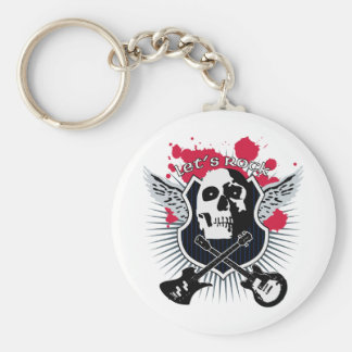 Let's rock! keychain