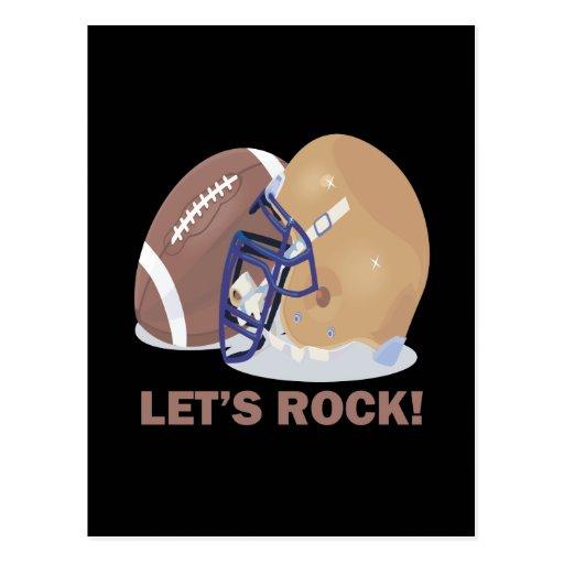 Lets Rock Post Card