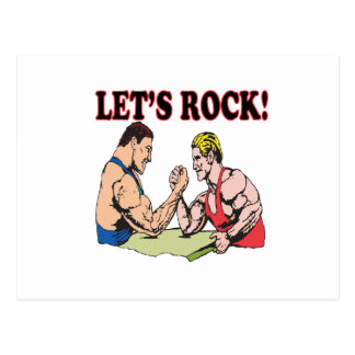 Lets Rock Postcard