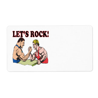 Lets Rock Shipping Label