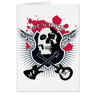 Let's rock! tarjeta de felicitación