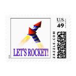 Lets Rocket Postage Stamps