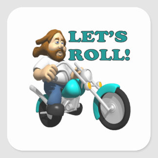Lets Roll 2 Square Sticker
