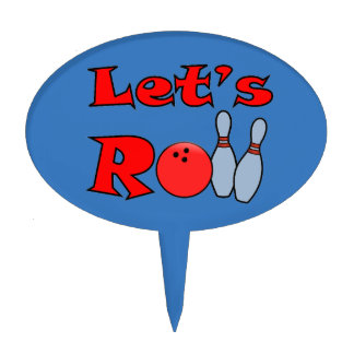Let's Roll - Bowling Cake Toppers