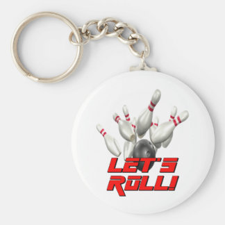 Let's Roll Bowling Keychain