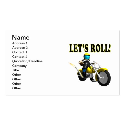 Lets Roll Business Card