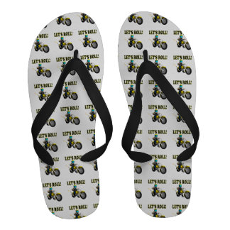 Lets Roll Flip Flops