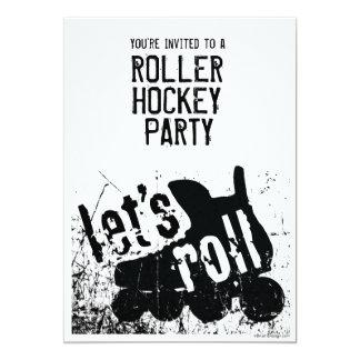 Let's Roll hockey party Invitation