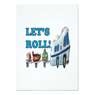 Lets Roll 5x7 Paper Invitation Card
