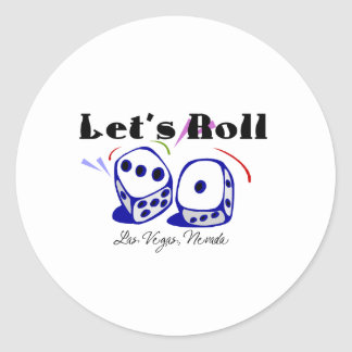 Let's Roll - Las Vegas Classic Round Sticker
