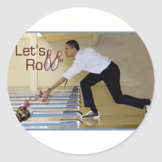 Lets Roll Osama bin Laden Classic Round Sticker