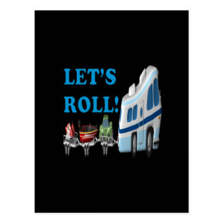 Lets Roll Postcard