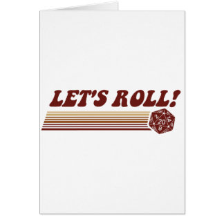 Let's Roll Roleplaying Game Dice Card