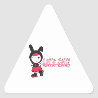 Let's Roll! Roller Derby Stickers