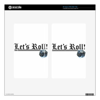 Let's Roll! Decals For Kindle Fire