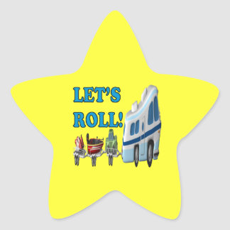 Lets Roll Star Sticker