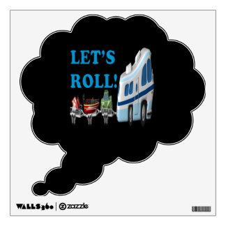 Lets Roll Wall Sticker